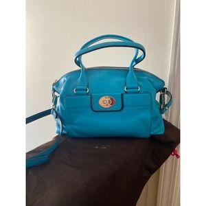 Kate Spade Leather Crossbody Purse Tote Turquoise